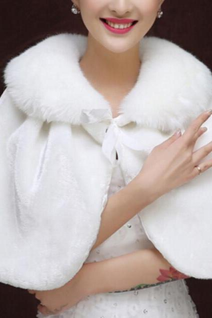 Faux Fur Shawl Shawl Wrap Bride shawl Women Scarf Shawl Wedding Shawls