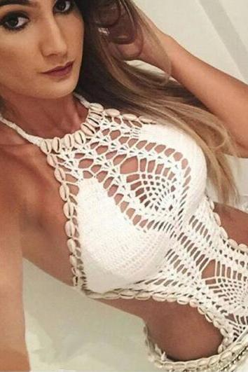2017 Sexy Knit Bikini Sexy Swimsuits String Shell Seam NZ226