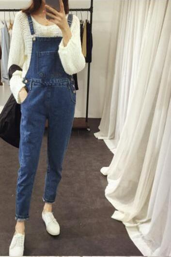 2017 new female fashion jeans waist high waist pants trousers cultivating high jeans NZ338