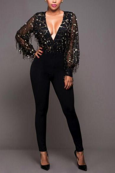Stretch lace stitching package hip sexy conjoined suits Women Fashion Jumpsuits fashion clairvoyant outfit NZ585